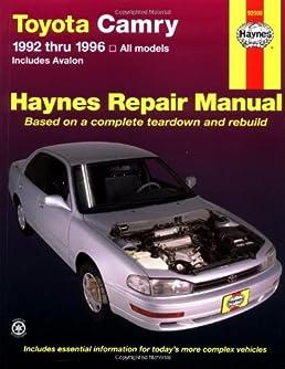 by robert maddox toyota camry 1992 1996 automotive repair manual rh amazon com toyota camry 1992 service manual toyota camry 1992 service manual