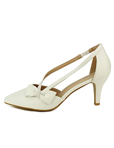 Blanc CendriyonEscarpin Noeud 44 Me Femme Chaussures Cink Taille QBhdxCtros