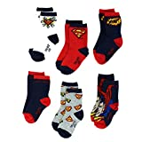 Superman Baby/Infant/Toddler Hero 6 pack Crew Socks 12-24 Months