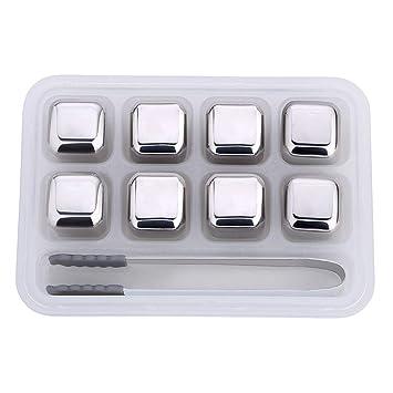 wiFndTu Cubitos de hielo de acero inoxidable, 4/8 piezas de ...