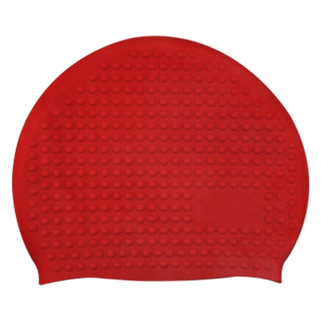 Summer Adult Swimming Hat Durable Elastic Silicone Pool Beach Swim Head Cap