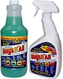 Bugs N All - Professional Strength Vehicle Cleaner / Bug Remover. 1qt. Concentrate Makes 8 Quarts. Includes an EMPTY 1 Qt. Spray Bottle - Safe on Wax, Clear Coat, Paint, Decals and on all Surfaces.