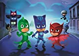 SDore PJ MASKS Birthday Party Edible 1/2 Half Sheet Image Frosting Cake Topper