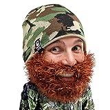 Beard Head - The Original Bushy Duke Knit Beard Beanie (Brown)