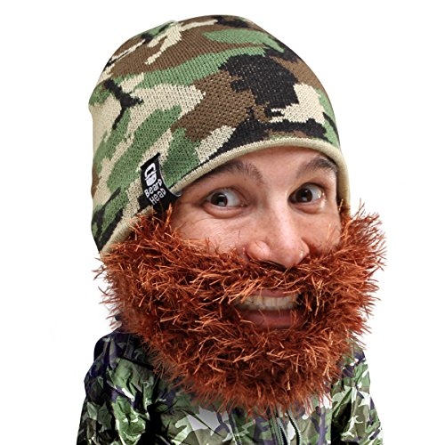 Beard Head Bushy Duke Beard Beanie - Camouflage Hat and Fake Beard Facemask