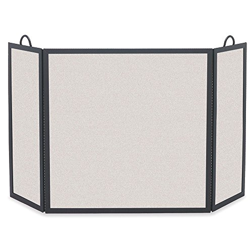 (Pilgrim Home and Hearth Pilgrim Solid Bar Fireplace 18221 Rectangular Tri Panel Screen, 52.5 W x 30