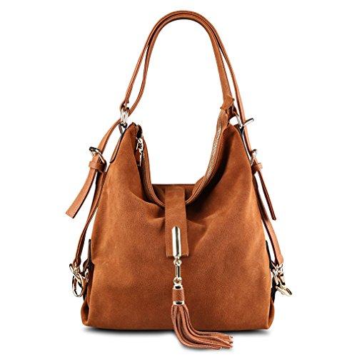 Leather Shoulder Suede Nubuck Eisure Hobo Kakhi Bag Women Handbag Messenger Firstider AqHPTZww