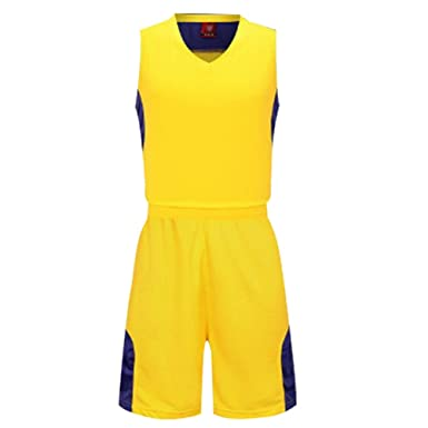 YouPuer Men s Basketball Jerseys Suit Training Team Tank Top Sportwear and  Shorts Sport Set  Amazon.co.uk  Clothing 73e851c3b