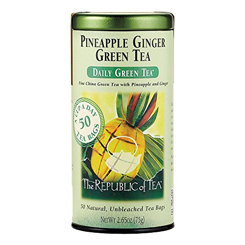 (The Republic of Tea, Pineapple Ginger Green Tea, 50-Count)