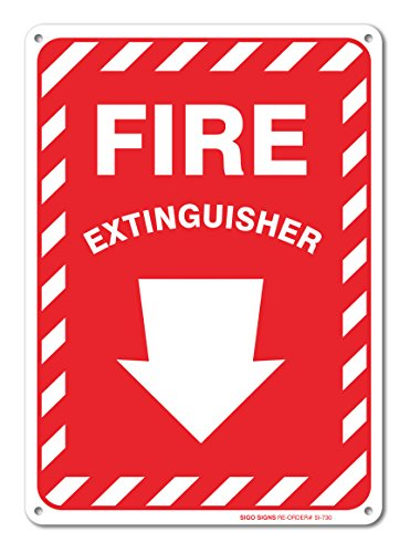 Extinguisher Arrow Aluminum Indoor Outdoor
