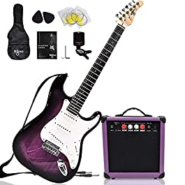 Complete 39 Inch Guitar and Amp Bundle Kit for Beginners-Starter Set Includes 6 String Tremolo Guitar, 20W Amplifier…