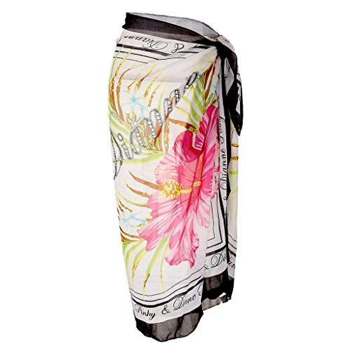 Ayliss Womens Swimwear Chiffon Cover up Beach Sarong Pareo Bikini Swimsuit Wrap,#1