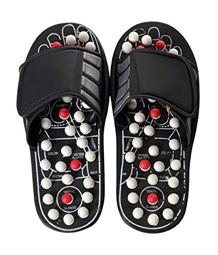 Agrima-Fashion-Adult-Spring-Acupressure-Slippers-Foot-Massager-With-Magnetic-Therapy-L-Black