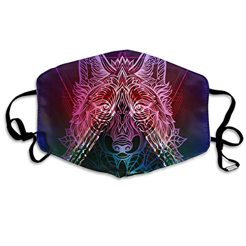 Talismans Totem - Unisex Mouth Mask Tribal Totem Wolf Talisman Flu Dust Masks Filters Half Face Earloop Masks Surgical Masks for Outdoor Cycling