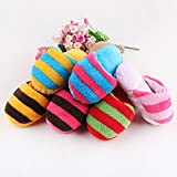 Doyime Cute Puppy Dog Toy Pet Puppy Play Squeaker Plush Slippers Bread Shape Gift Pack of 1