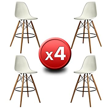 Taburete Eames Dsw.Barhocker Eames Simple Xhome Set Of Two White Quot Seat