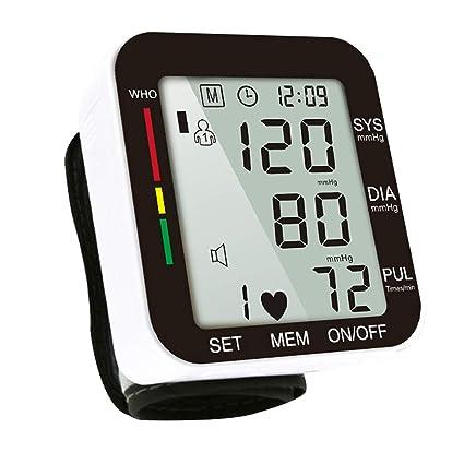 Digital Tensiómetro de muñeca automática, pantalla grande, con sangre automática Ruck de pulso de medición y ...