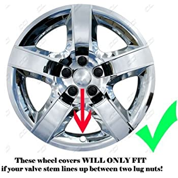 2005, 2006, 2007, 2008, 2009 Pontiac G6 Chrome Factory Replica Wheel Covers