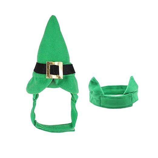Jushi Sombrero del Perro Mascota Sombrero Pajarita 2pcs St ...