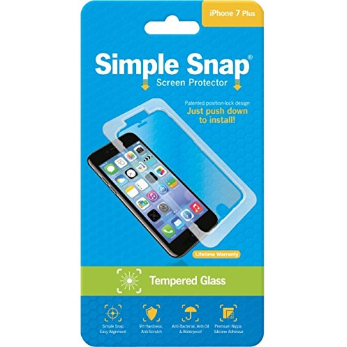 ReVamp Wholesale SS0035 Simple Snap Screen Protector Prot Iphone 7 Plus Tempered Glass