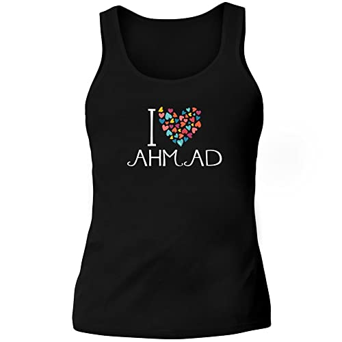 Idakoos I love Ahmad colorful hearts - Nomi Maschili - Canotta Donna
