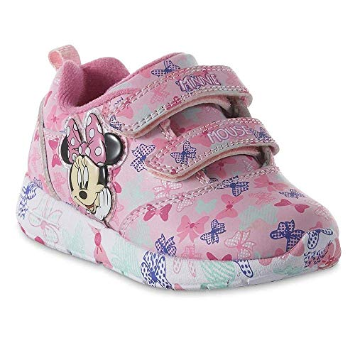 Disney Toddler Girls' Minnie Mouse Sneaker, Light-Up (10)]()
