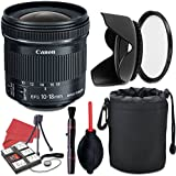 Canon EF-S 10-18mm f/4.5-5.6 IS STM Lens + Accessory Bundle