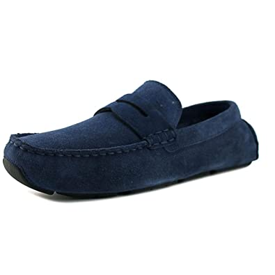 1a4999cb59c Cole Haan Kelson Penny Loafer Drivers Blazer Blue Suede Shoes (8.5)