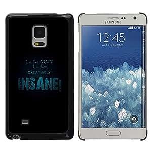 TECHCASE**Cubierta de la caja de protección la piel dura para el ** Samsung Galaxy Mega 5.8 9150 9152 ** I Am Not Crazy