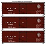 Accurail ACU8092 HO-Scale KIT 36' Wood Box Cars/3-Pack: D&RGW Denver & Rio Grand