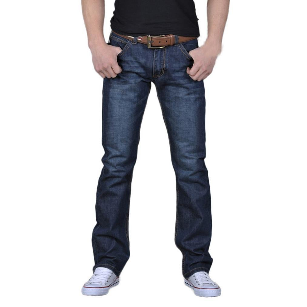 Ankola Jeans Mens Casual Autumn Relaxed Straight Washed Denim Loose Long Trousers Jeans Pants