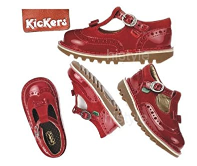 6e19036fb0afc Kickers Kick Brogue T-bar Infant (patent and sue Kids Shoes Red Size 5 To  12 (11 Euro 29): Amazon.co.uk: Shoes & Bags