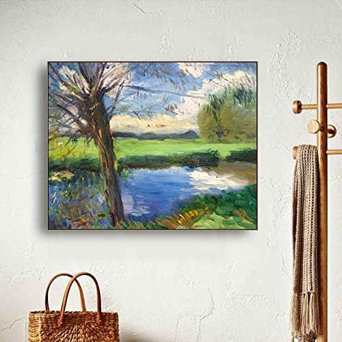 キャンバス書道絵画クラシック春川ポスターと版画、壁写真リビングルームホームデコレーション90×72センチメートル枠なし