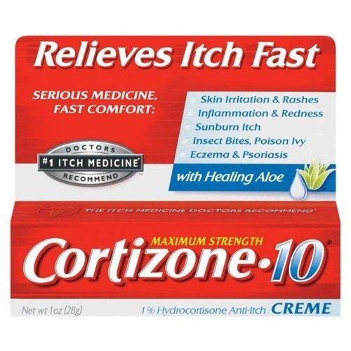 Cortizone 10 Maximum Strength Anti-Itch Creme with Aloe 1 oz (Pack of 6) by Cortizone