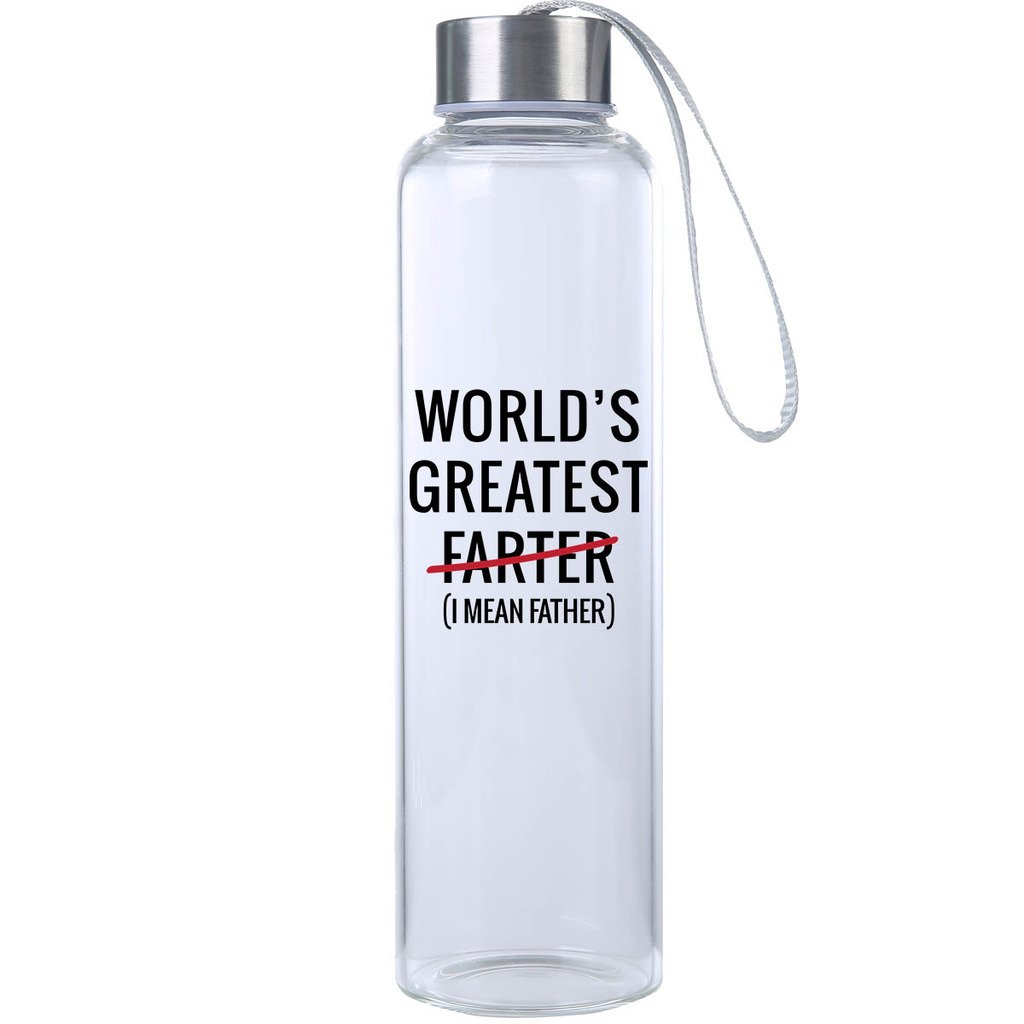 from Daughter for Best Dad Perfect Father/'s Day Gifts for the Best Dad Ever Gift Ideas for Men Durable Glass Water Bottle Mad 2 Order Gift for him 20 oz
