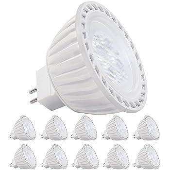 10 pack ac dc 12v 5w mr16 led bulb 50w halogen equivalent 2700k warm white led mr16 spotlight. Black Bedroom Furniture Sets. Home Design Ideas
