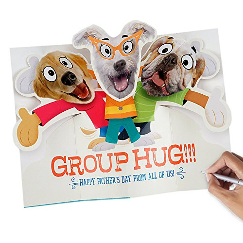 Hallmark Funny Father's Day Greeting Card from All (Dog Pop-Up Group Hug) Photo #4