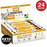 CHOMPS MINI Free Range Turkey Jerky Meat Snack Sticks | Keto Certified, Whole30 Approved, Paleo, Low Carb, High Protein, Gluten Free, Sugar Free | 29 Calorie 0.5 Oz Sticks, Original Turkey 24 Pack