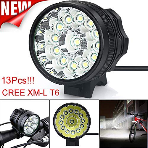 Ketteb Easter for Sale 13x T6 LED 3 Modes Bicycle Lamp Bike Light Headlight Cycling Torch