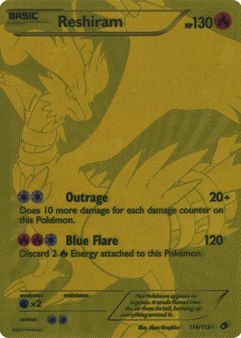 Pokemon Reshiram 114 113 Legendary Treasures Holo