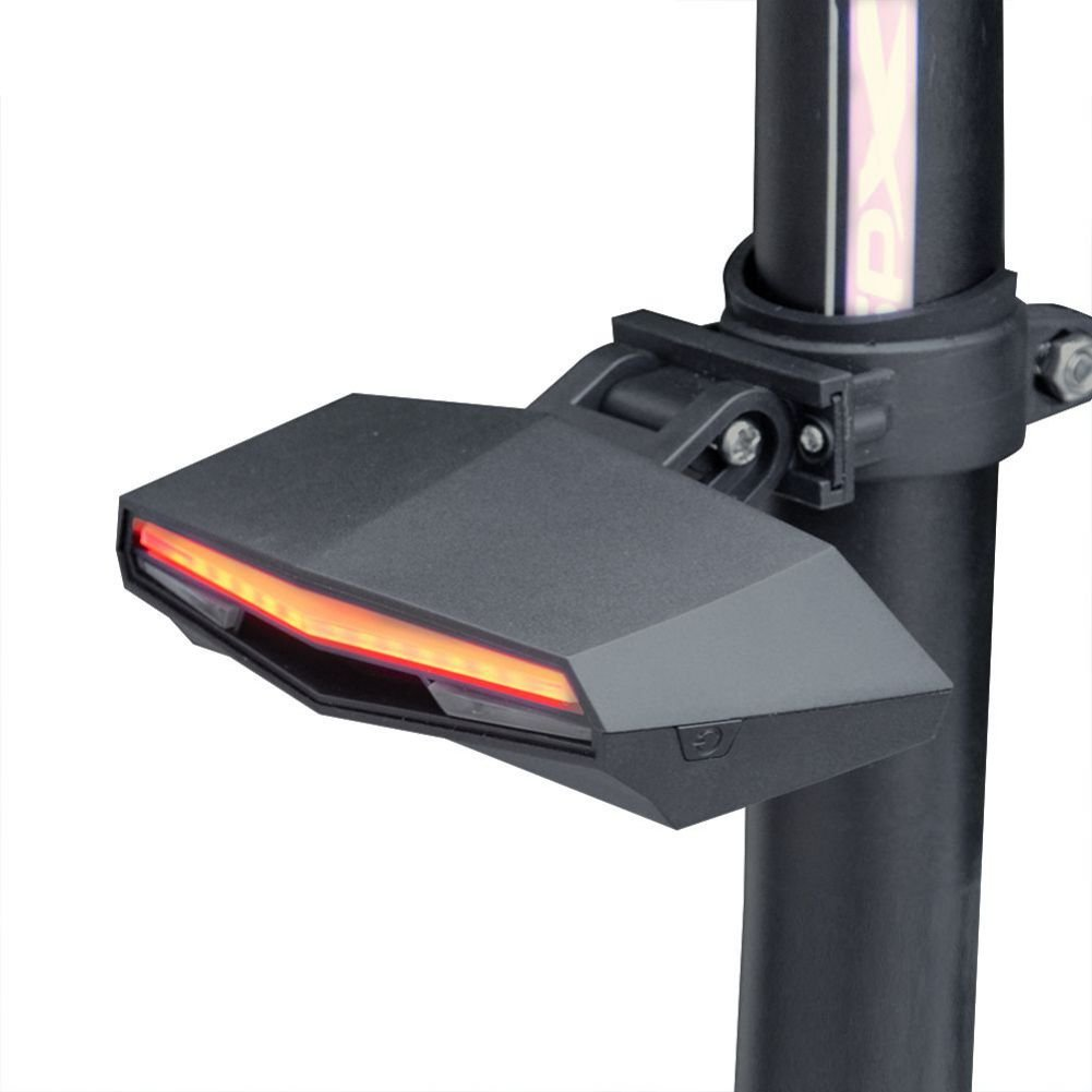 Mercu Smart Bike Tail Light USB Rechargeable with Wireless Remote Turn signals Laser Beams for Moutain Bike,Road Bicycle and Hybrid Bike with 85 Lumens