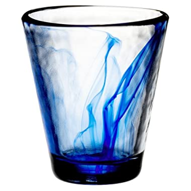 Bormioli Rocco Murano 9-Ounce Cobalt Blue Beverage Glass, Set of 4