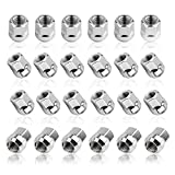 """YITAMOTOR 24pcs Chrome 14x1.5 Open End Bulge Acorn Lug Nuts - 19mm Hex - Cone Seat - 0.83"""" Tall for Aftermarket Wheels Wheel Lug Nut"""