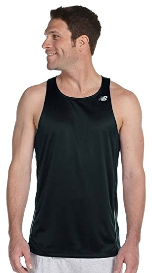 b5f0d77652940 New Balance Men s Tempo Running Singlet XL BLACK N9138