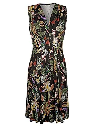 Amy Vermont Damen Jerseykleid mit Allover Druck Keine/Nicht Relevant by Multicolor zVbwmx9v