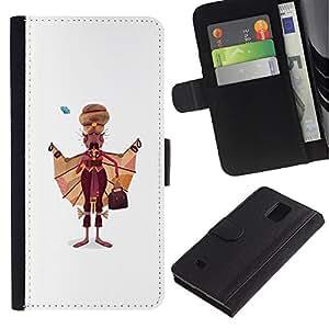 All Phone Most Case / Oferta Especial Cáscara Funda de cuero Monedero Cubierta de proteccion Caso / Wallet Case for Samsung Galaxy Note 4 IV // Sikh Man Art Drawing India Sikhism Attire