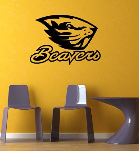 - Ncaa Oregon State Beavers Team GYM Sports Logo Wall Mural Vinyl Sticker DA3137