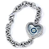 MLB Women's MH-SEA Heart Collection Seattle Mariners Watch