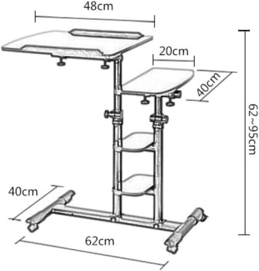 QAZWSX Lifting Bookshelf Folding Removable Laptop Desk Bed Computer Desk Simple Lazy Table Land Bedside Table