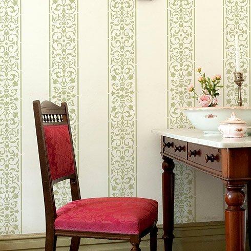 Wall Stencil Arabesque Stripe - Elegant Reusable Stencil for walls
